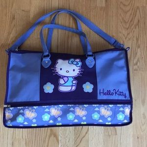 Hello Kitty Vintage Purple Duffle Bag 20x13x7""